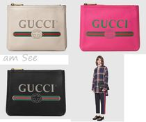 【GUCCI】GG ロゴ クラッチバッグ 白&黒&ピンク 小