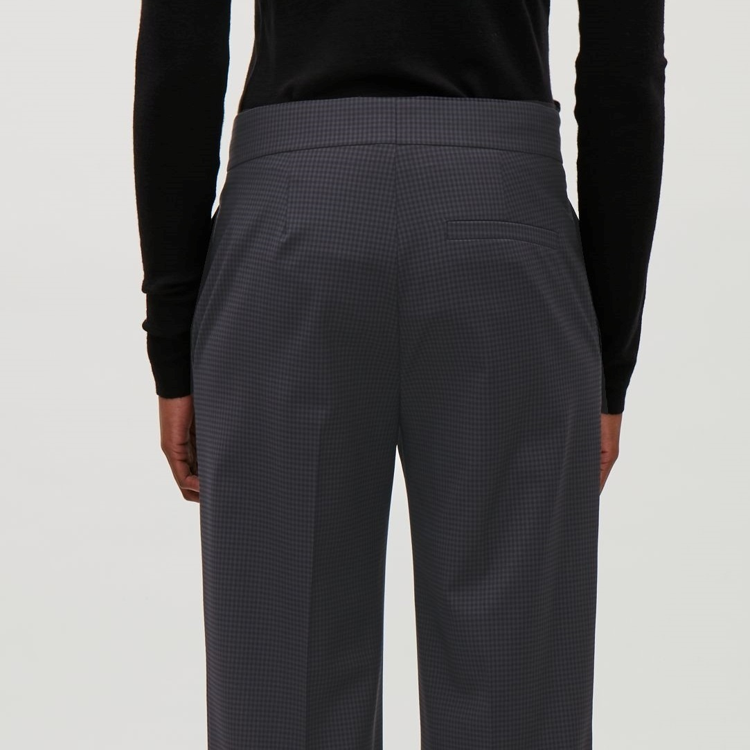 """""""COS""""GINGHAM CHECK TROUSERS DARKGRAY"""