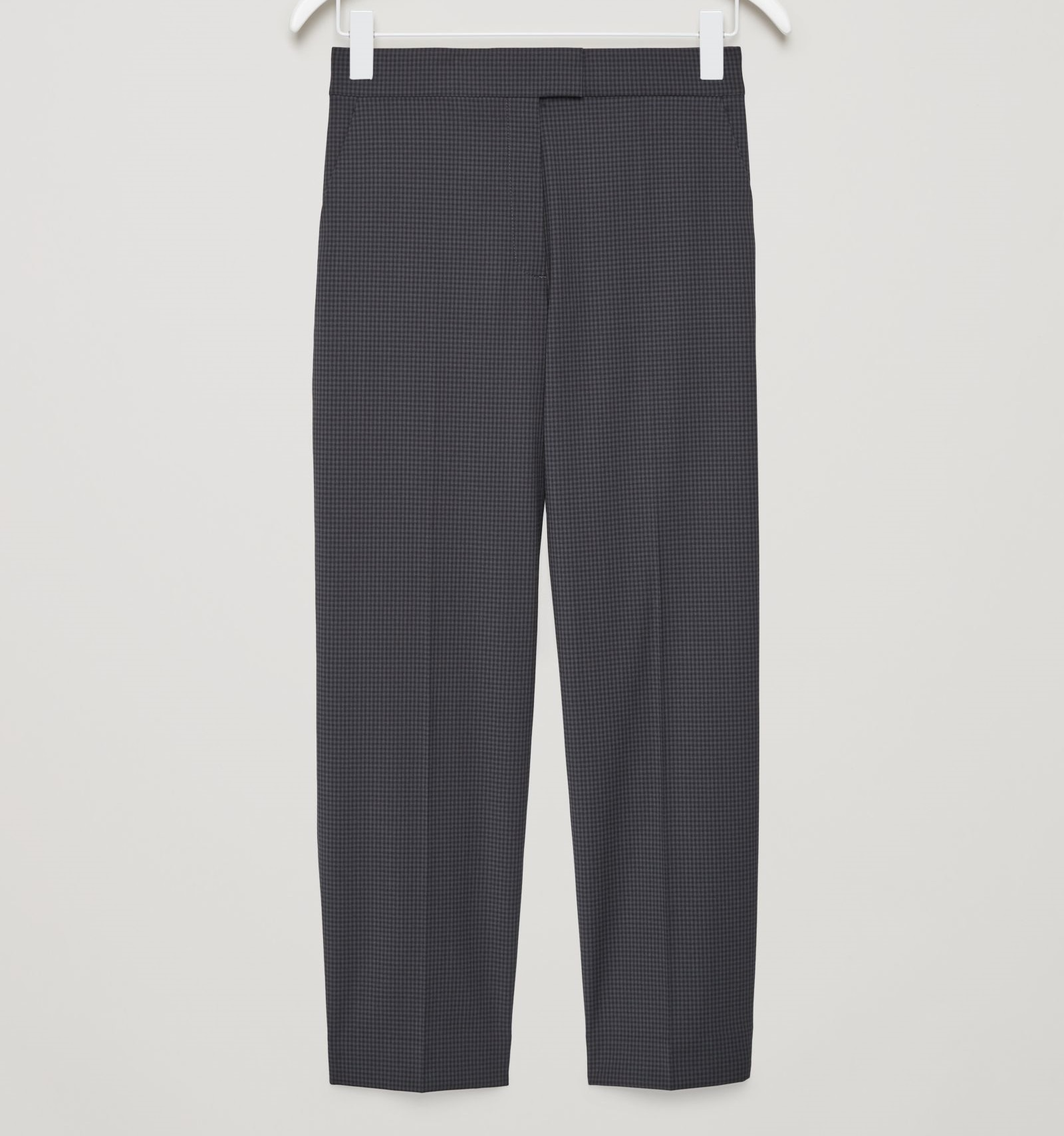 """COS""GINGHAM CHECK TROUSERS DARKGRAY"