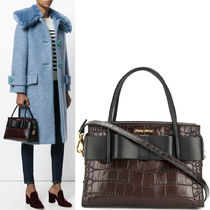 MM396 FIOCCO HANDBAG IN CROCO EMBOSSED LEATHER