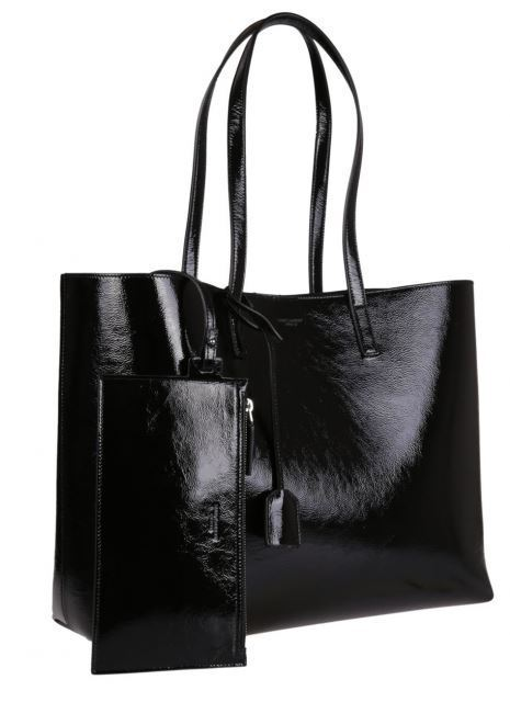 SAINT LAURENT Patent Leather Shopping Tote