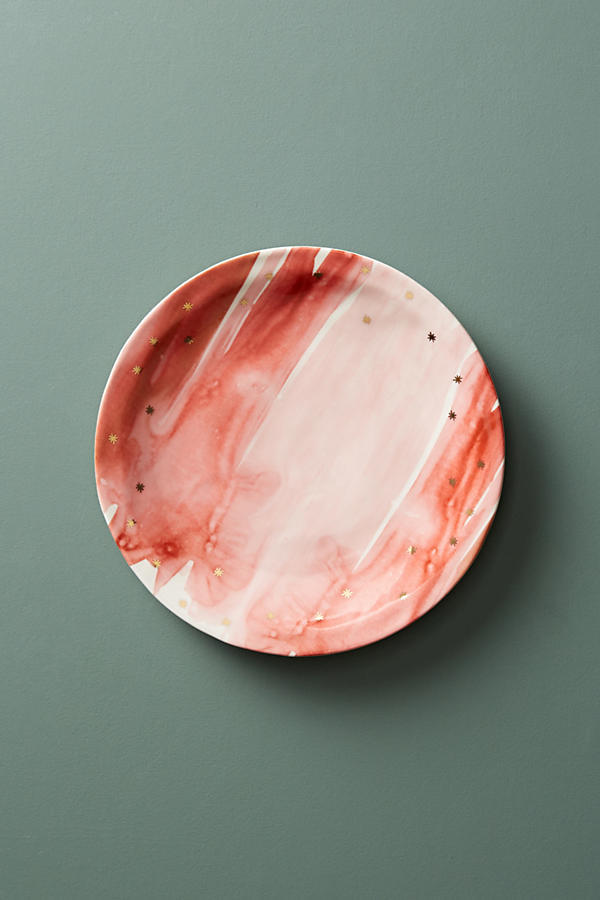 最安値保証*関送込【Anthro】Night Sky Dessert Plate 2枚SET