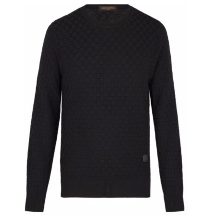 17AW【新作】ルイヴィトン☆DAMIER CREW NECK☆セーター*ダミエ