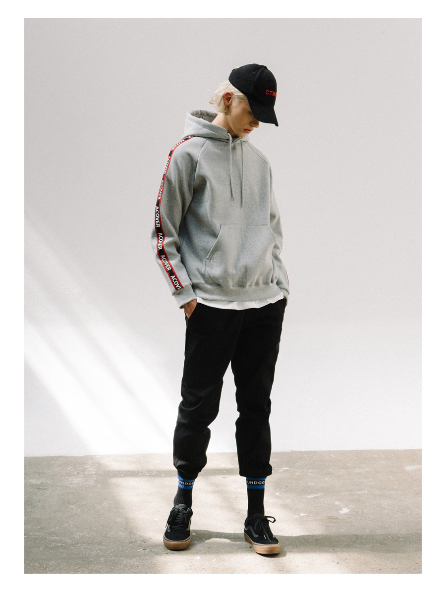 ACOVER TAPE HOODIE/GRAY,BLACK(ACT17332)