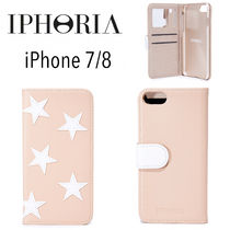 【国内発送,関税込】IPHORIA Book Case White Stars iPhone7/8