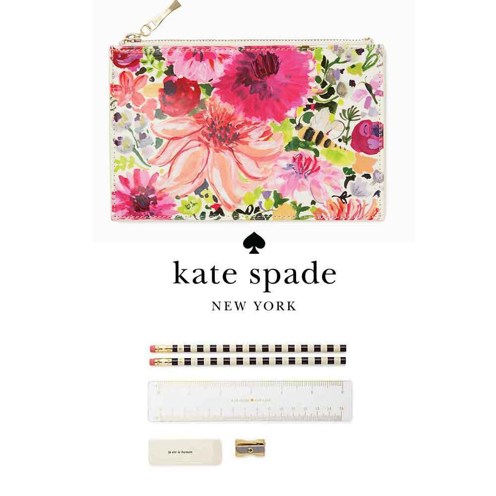 即納Kate spadeNY dahlia pencil pouch 174831