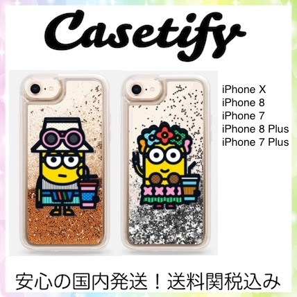 Casetify iPhone X / 8 / 7 (Plus) MINIONS キラキラケース