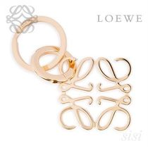 LOEWE★ロエベ Anagram Keyring Gold