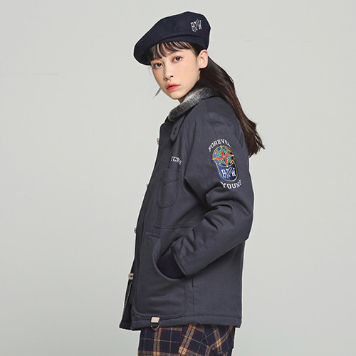 ★ROMANTIC CROWN ★Forever Young 6oz Deck Jacket(NY)