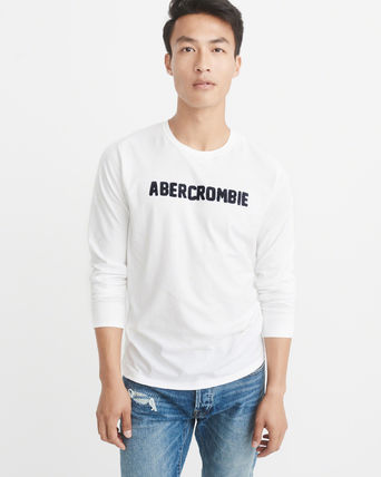 Abercrombie & Fitch Tシャツ・カットソー 【国内即発】*Abercrombie & Fitch*  LOGO LONG-SLEEVE TEE(2)