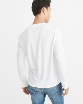 Abercrombie & Fitch Tシャツ・カットソー 【国内即発】*Abercrombie & Fitch*  LOGO LONG-SLEEVE TEE(3)