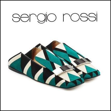Sergio Rossi(セルジオロッシ)★Printed Suede Loafers