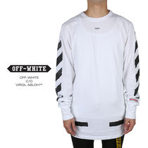 off-white オフホワイトDIAG BRUSHED TEE L/S 001F171850300110