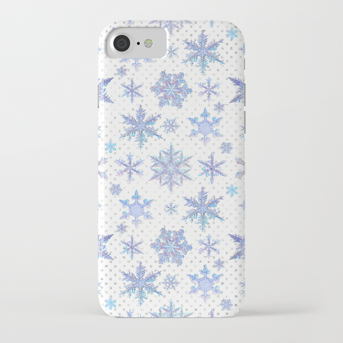 【Society6】iPhone7ケース 雪の結晶デザイン他機種変更可★