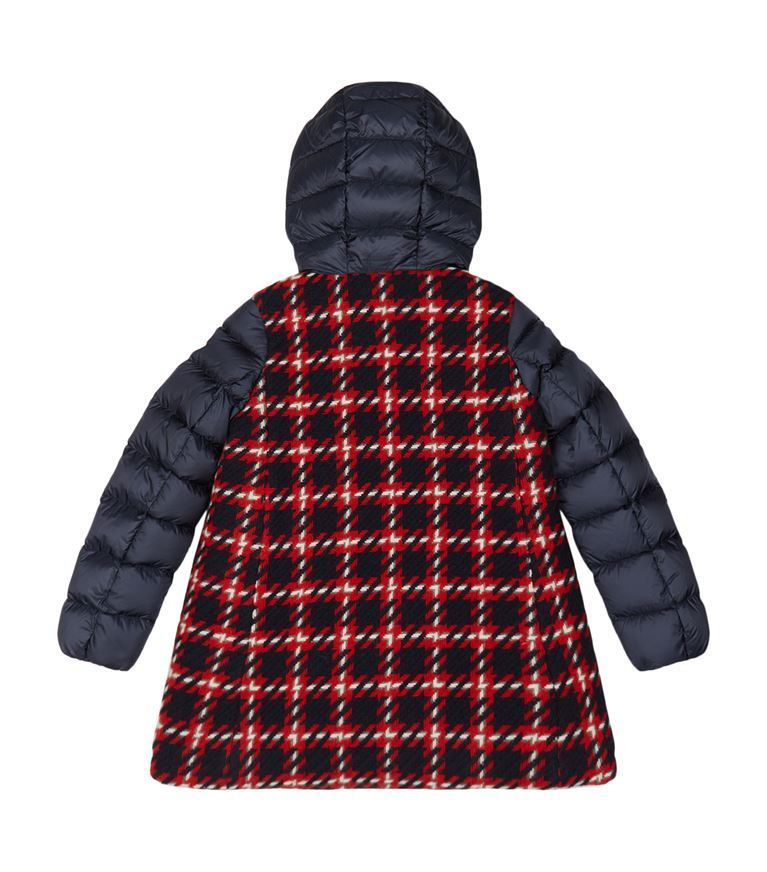 送料関税込!2018AW新作 MONCLER Curiosite Tartan Hooded Coat