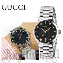 ★関税・送料込★GUCCI G Timeless Black Dial Watch  YA1264029