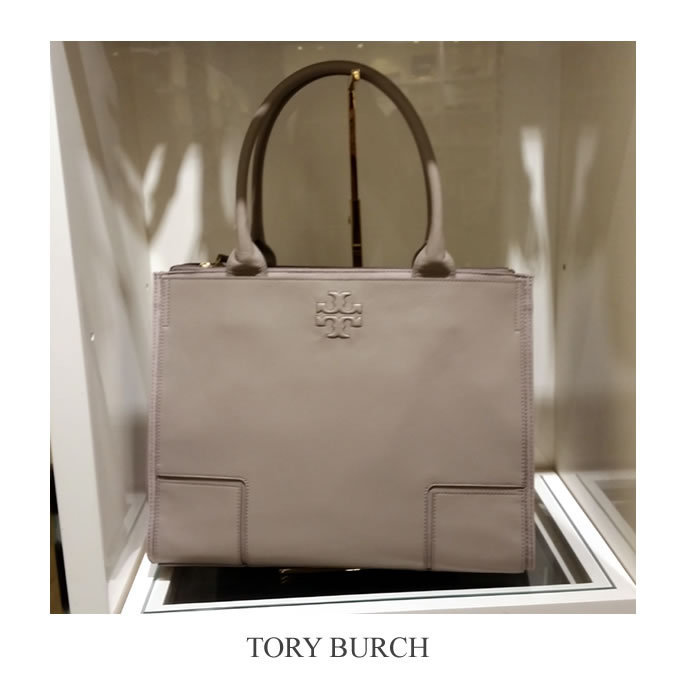 【Tory Burch】Ella Canvas Leather Tote 関税送料込 / 追跡便