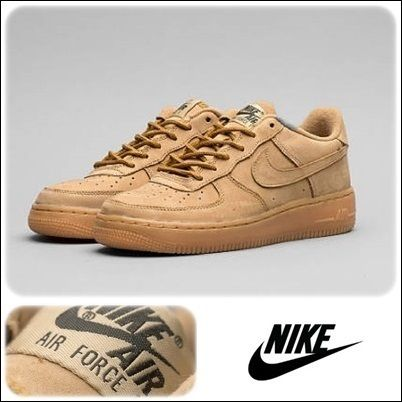 ナイキ Nike Air Force1 Low Flax GS  関税込l
