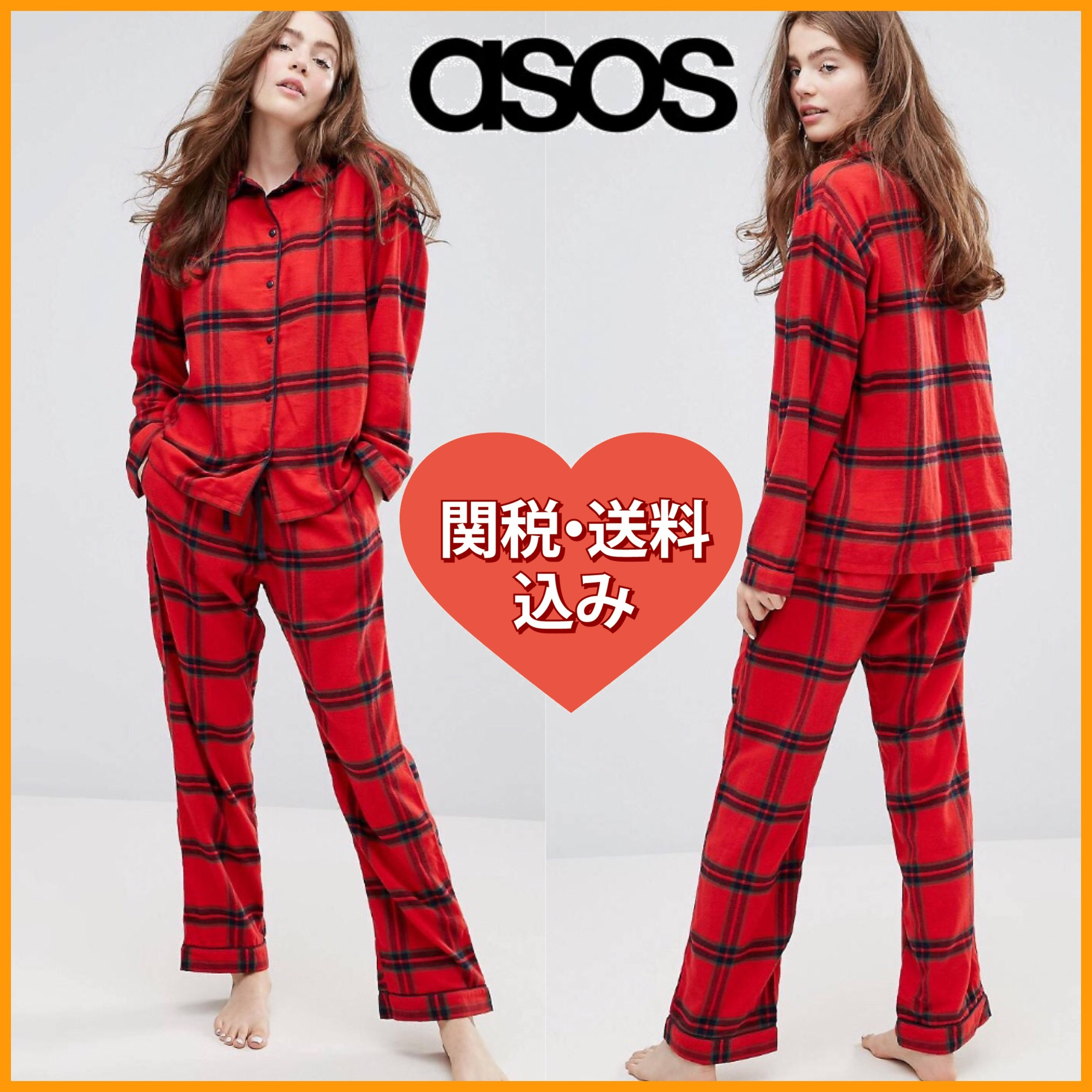 国発[関税・送込]Monki Check Pyjama Set