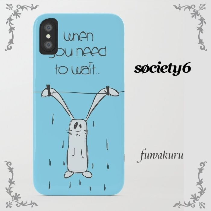 【Society6】iPhone7ケースWhen u need to wait...兎機種変更可