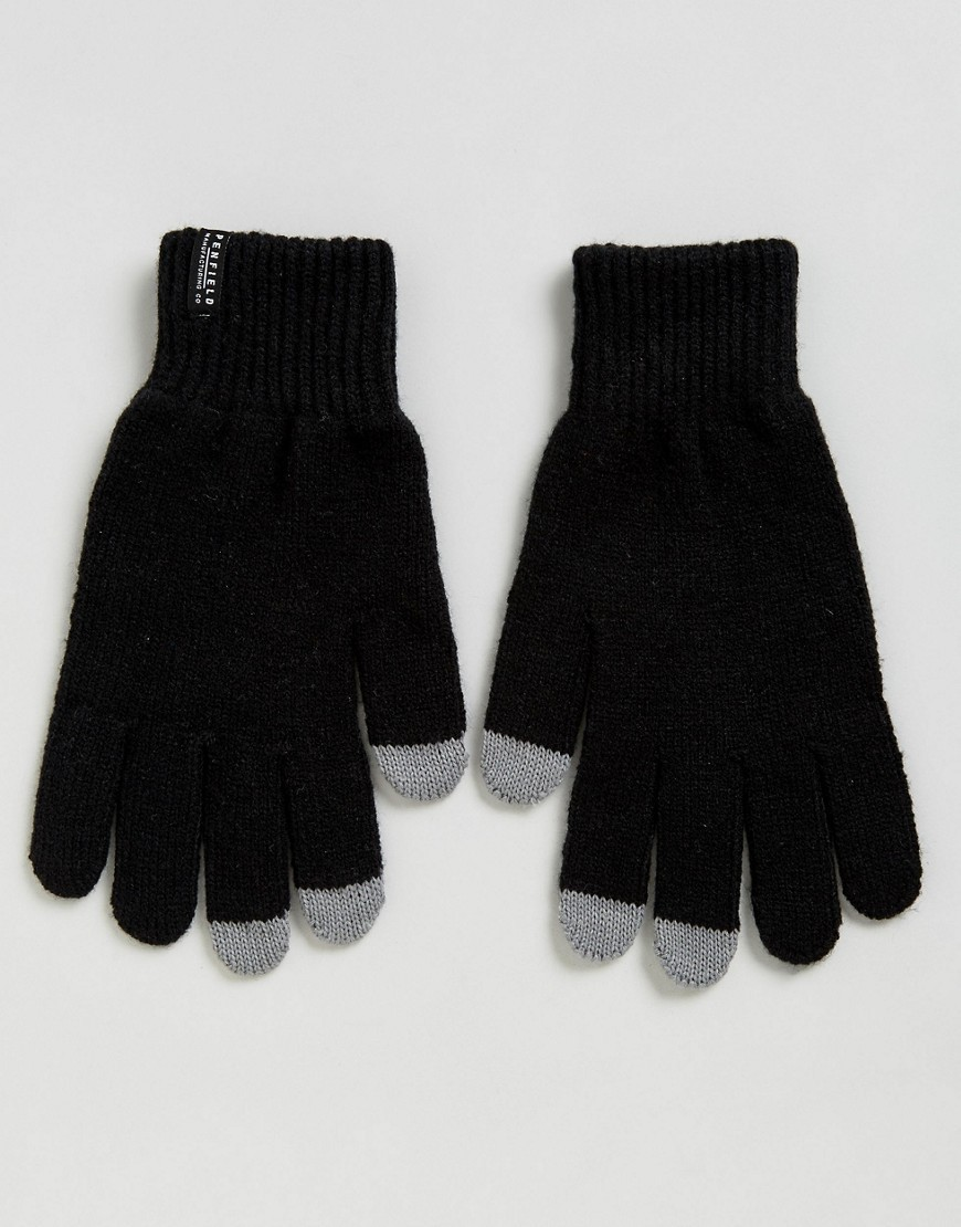 ◎送料込み◎ Penfield Nanga Etouch Knit Gloves in Black