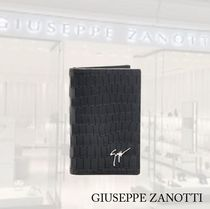 【GIUSEPPE ZANOTTI】Card holder with coco leather and logo