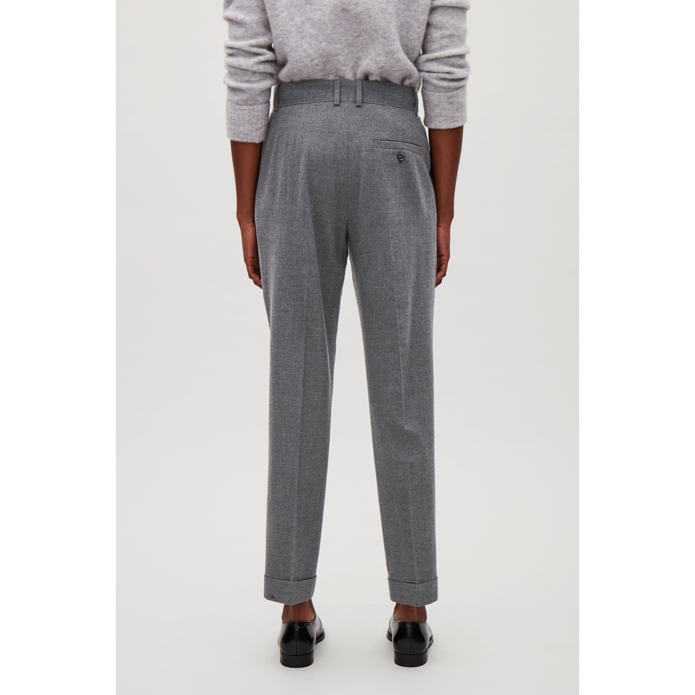 COS☆TAPERED TROUSERS / grey