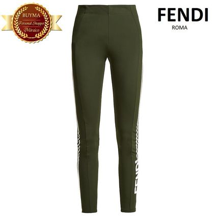 FENDI フェンディSide-stripe apres-ski leggings