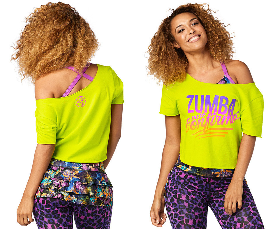 ◆10月新作◆Zumba Confirmo Top -Zumba Green
