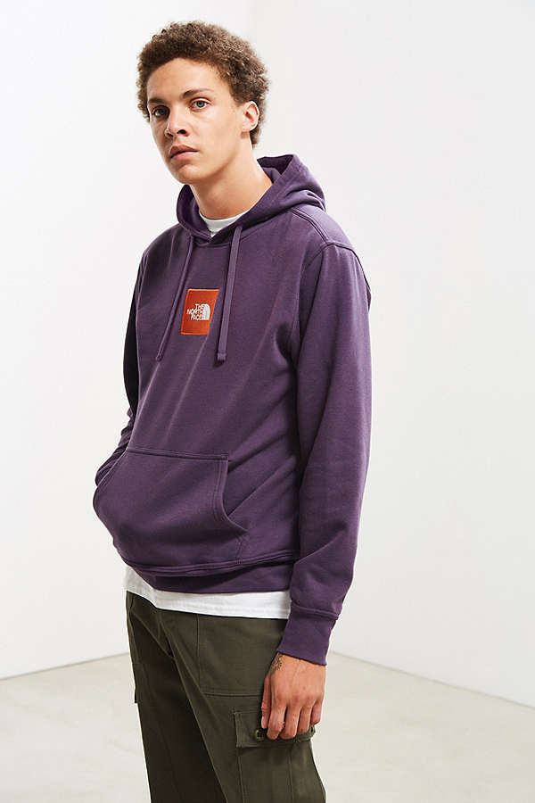 送料込み★The North Face Box Logo Hoodie Sweatshirt Purple