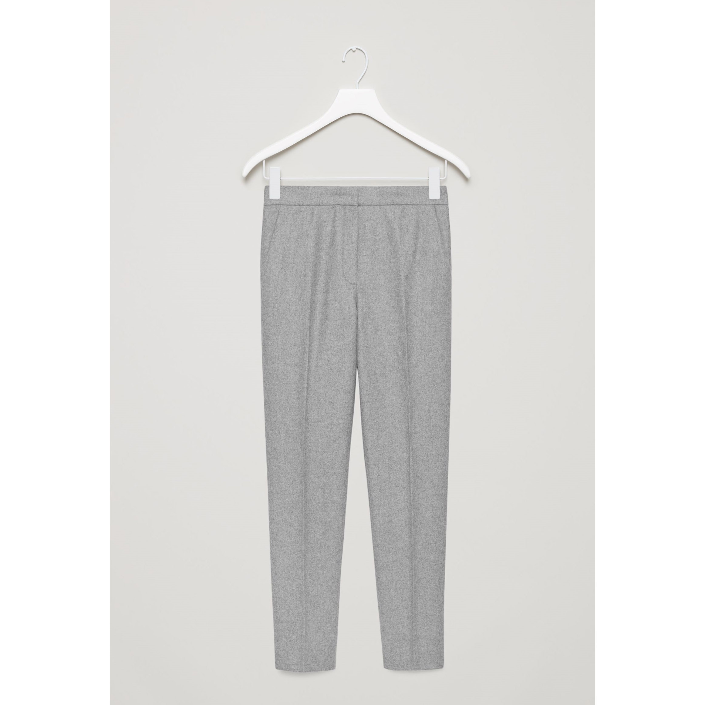 COS☆SLIM-FIT FLANNEL TROUSERS / grey