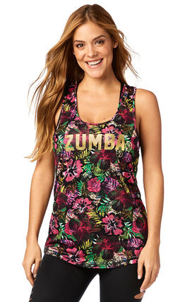 ZUMBA フィットネストップス 新作♪ZumbaズンバZumba La Pachanga Loose Tank-Shocking Pink