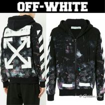 完売確実★Off-White★Brushed Diagonal Arrows Galaxy Hoodie