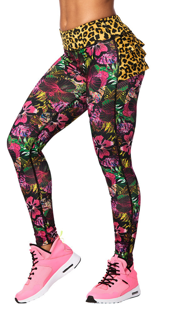 ◆10月新作◆La Pachanga Ruffle Leggings-Shocking Pink