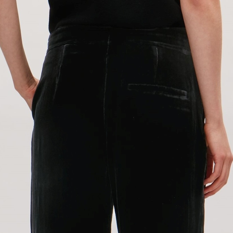 """COS""VELVET TROUSERS BLACK"