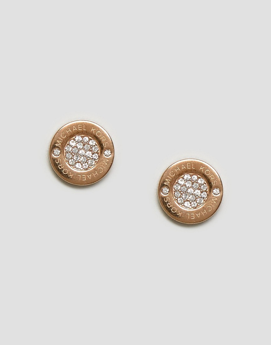◎送料込み◎ Michael Kors Rose Gold Circle Stud Earrings