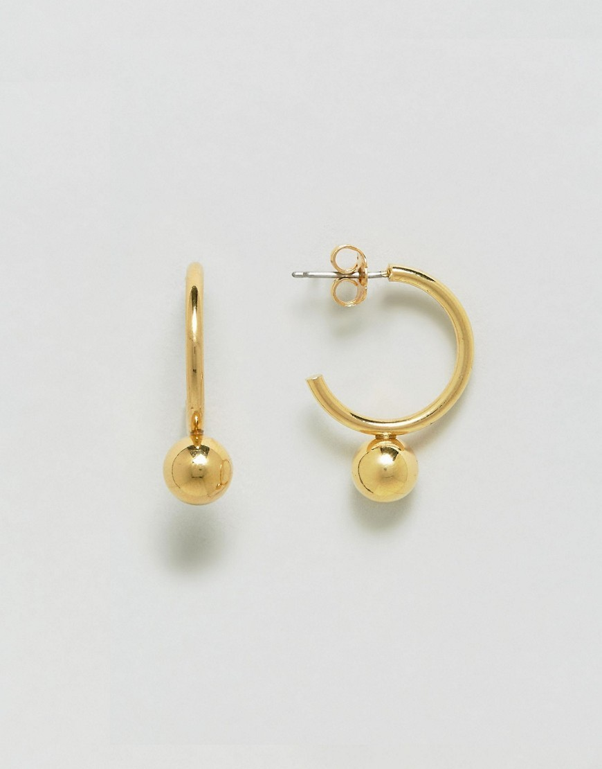 ◎送料込み◎ Whistles Hoop And Sphere - Gold