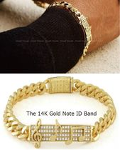 送料税込【King Ice】The 14K Gold Note ID Bandブレスレット