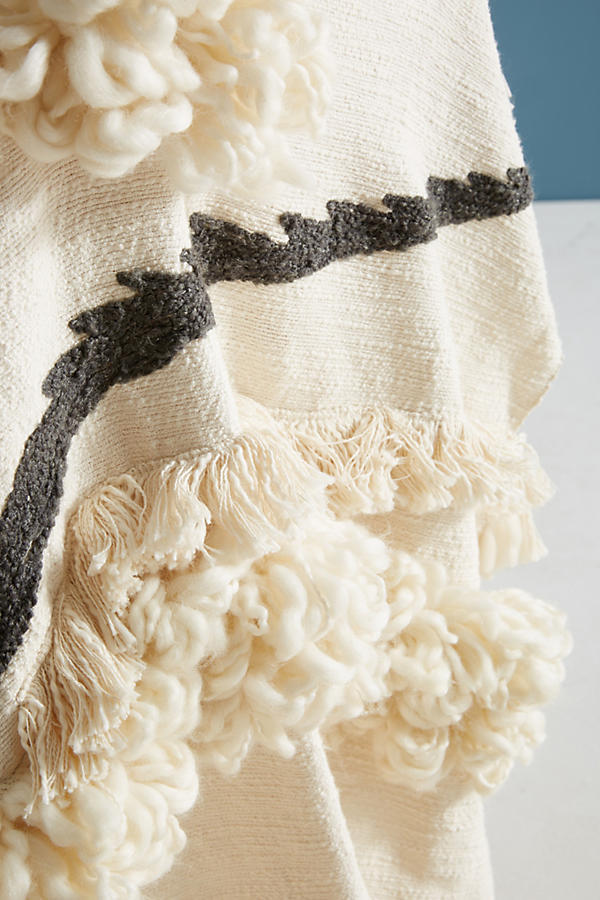 ANTHROPOLOGIE☆Textured Outre Throw Blanket☆税関送料込み☆