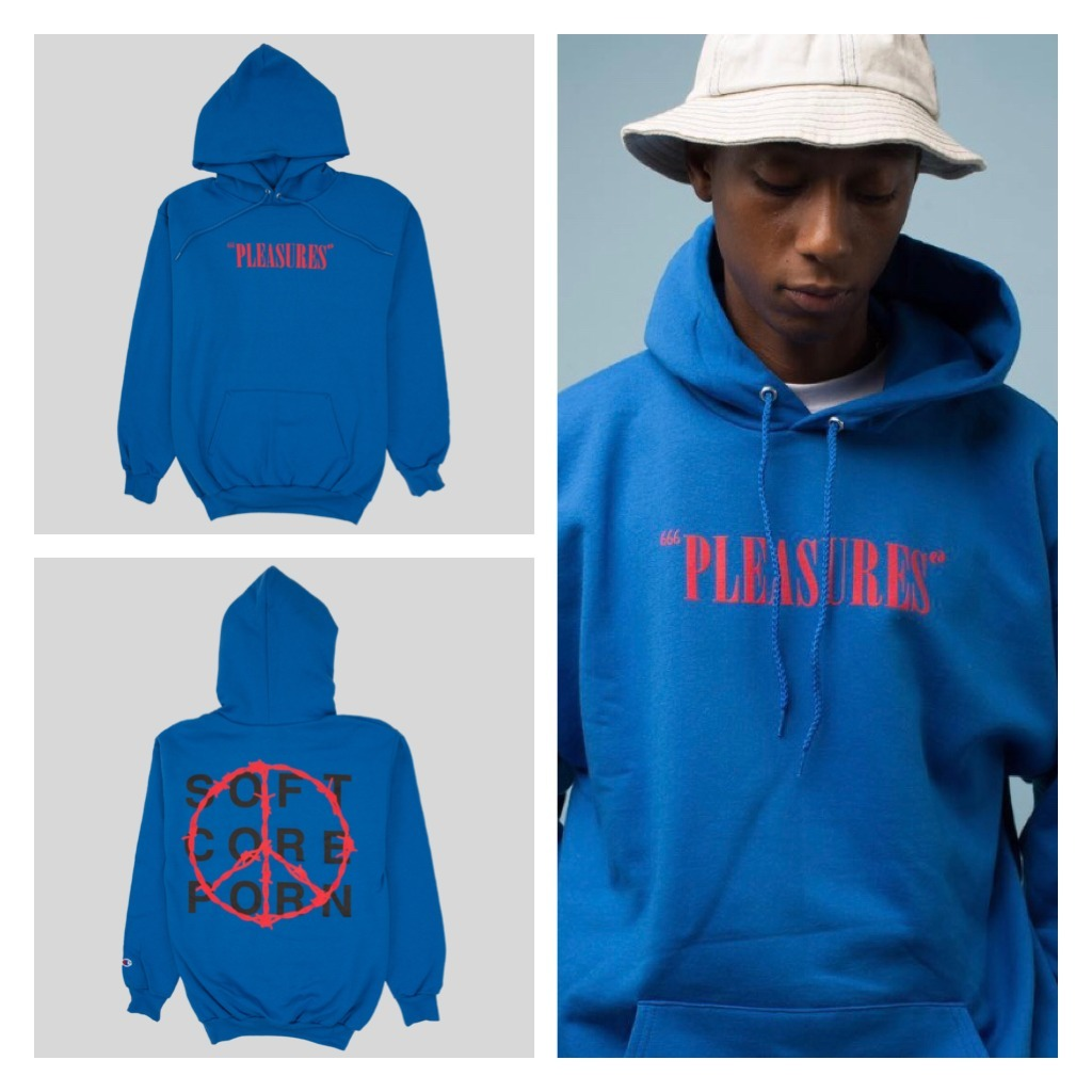 入手困難!!日本未入荷「PLEASURES」'SOFT CORE' CHAMPION HOODY