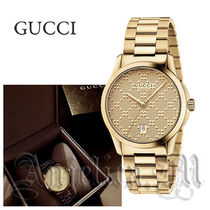★関税送料込★GUCCI G-timeless Yellow Gold Unisex  YA126461
