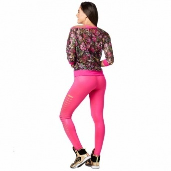 ★国内発送★ ズンバ Zumba La Pachanga Mesh Top Shocking Pink