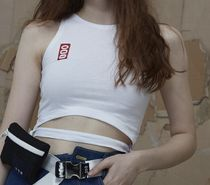 TWICEモモ ODD ONE OUT: WAIST STRING CROP WHITE