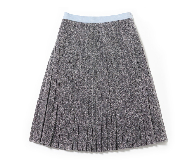 [MARGARIN FINGERS]日本未入荷★GLITTER PLEATS SKIRT SILVER