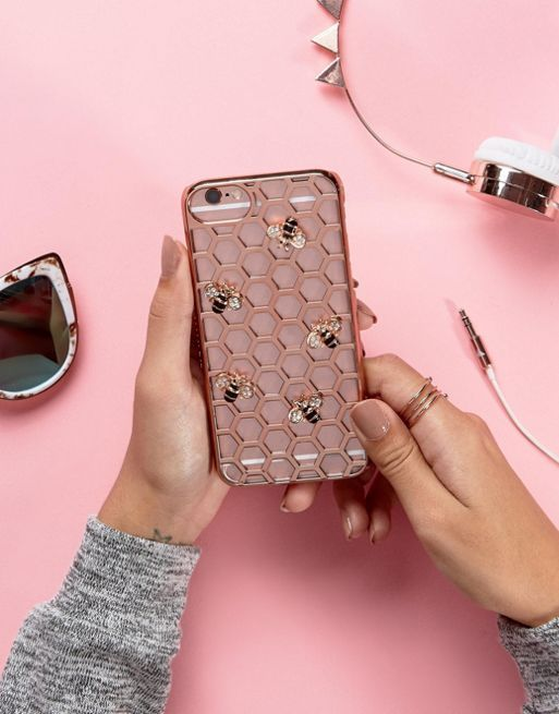送料・関税込み!!Skinnydip Rose Gold Bee iPh iphone ケース