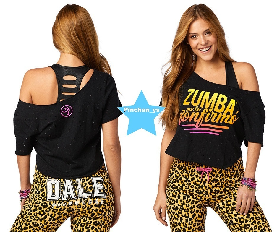 H29.10月新作☆【ZUMBA】Zumba Confirmo Top(Black)Z1T01348