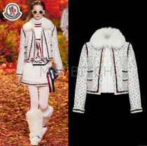17-18AW MONCLER GAMME ROUGE NYNKE ウールツイードジャケット