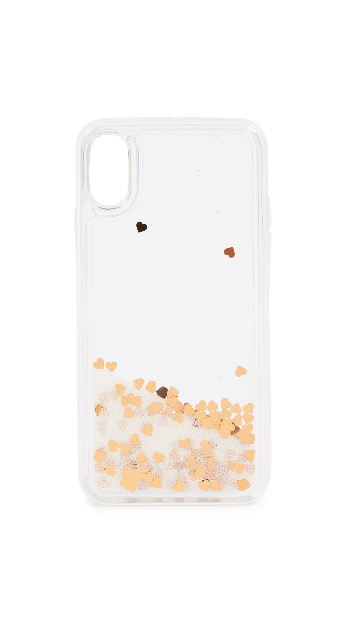送料・関税込み!!Confetti Hearts Glitterfall iphone ケース
