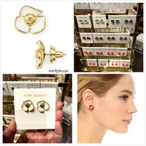 Tory Burch★Fleur Stud Earrings 花柄 ピアス*IVORY