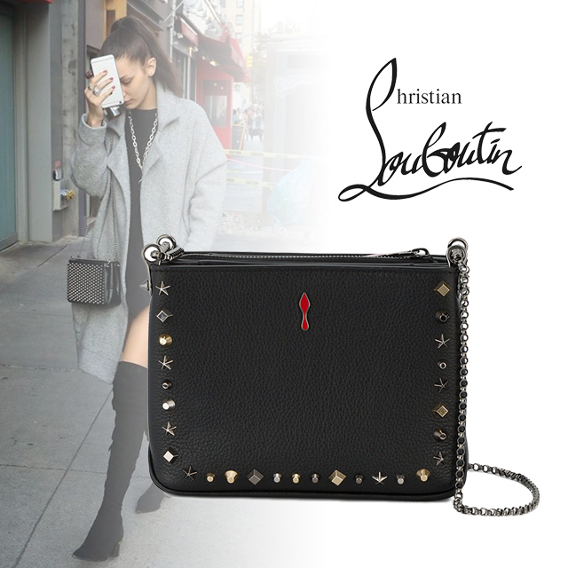 """Christian Louboutin """"Triloubi """"  スタッズ チェーンバッグ"""